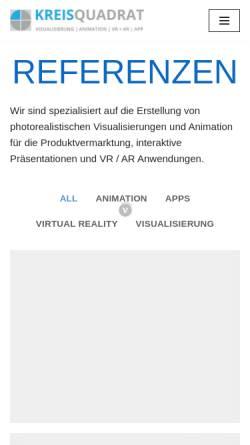 Vorschau der mobilen Webseite www.kreisquadrat.de, Kreisquadrat -Visualisierung Internet Architektur