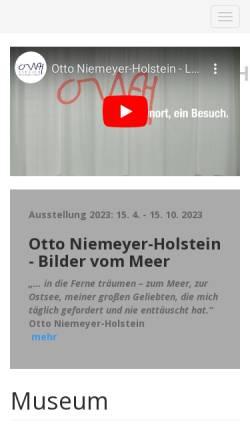 Vorschau der mobilen Webseite www.atelier-otto-niemeyer-holstein.de, Atelier Otto Niemeyer-Holstein
