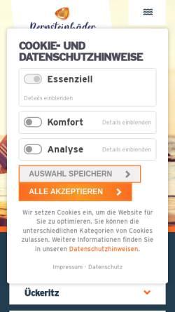 Vorschau der mobilen Webseite www.ueckeritz.de, Seebad Ückeritz