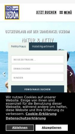 Vorschau der mobilen Webseite usedom.de, Usedom Tourismus GmbH