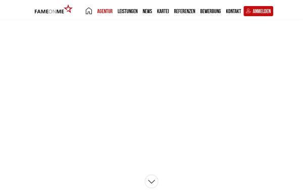 Vorschau von www.fameonme.de, FAMEONME Casting