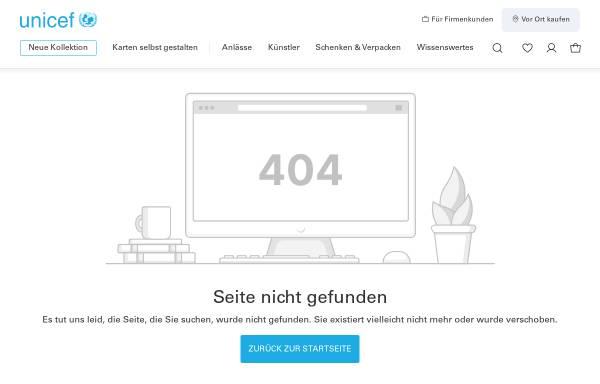 Vorschau von grusskarten.unicef.de, UNICEF - Grußkarten-Shop