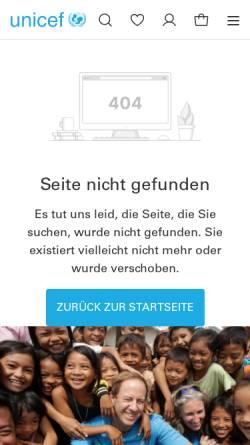 Vorschau der mobilen Webseite grusskarten.unicef.de, UNICEF - Grußkarten-Shop