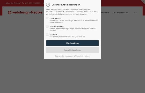 Vorschau von www.webdesign-radtke.de, Webdesign Radtke, Inhaber Stephan Radtke