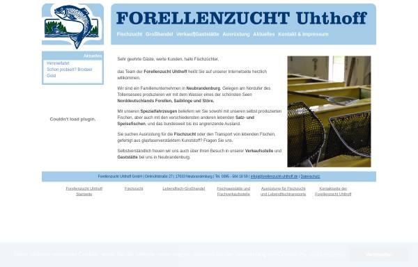 Vorschau von www.forellenzucht-uhthoff.de, Forellenzucht Uhthoff GmbH