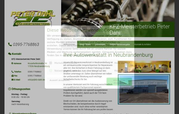 Vorschau von www.kfz-meisterbetrieb-peter-dahl.de, Kfz-Meisterbetrieb Peter Dahl