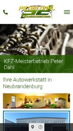 Vorschau der mobilen Webseite www.kfz-meisterbetrieb-peter-dahl.de, Kfz-Meisterbetrieb Peter Dahl