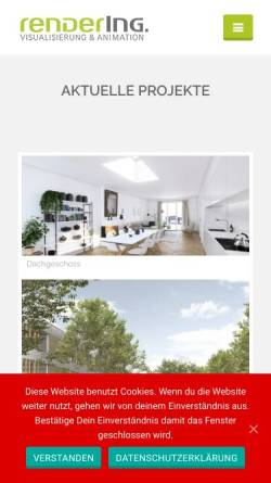 Vorschau der mobilen Webseite www.render-ing.de, renderING