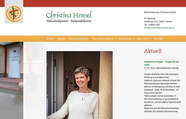 Vorschau von www.naturheilpraxishensel.de, Naturheilpraxis Hensel, Görslow