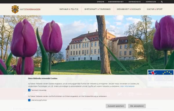 Vorschau von www.stavenhagen.de, Reuterstadt Stavenhagen