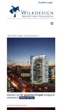 Vorschau der mobilen Webseite www.wilkdesign.de, Wilk Design & Computergraphik GmbH & Co. KG
