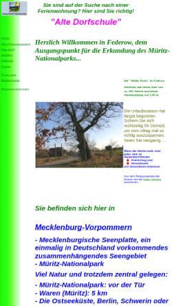 Vorschau der mobilen Webseite www.ferienwohnung-federow.de, Ferienwohnung Familie Strahlendorf