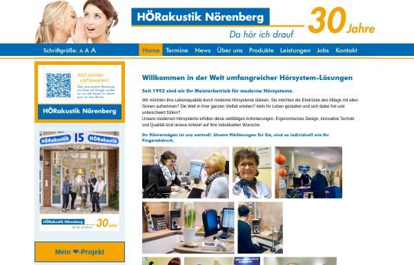 Vorschau von www.hoerakustik-noerenberg.de, Hörakustik Nörenberg, Inh. Heike Nörenberg