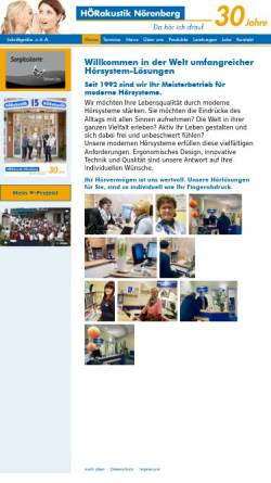 Vorschau der mobilen Webseite www.hoerakustik-noerenberg.de, Hörakustik Nörenberg, Inh. Heike Nörenberg