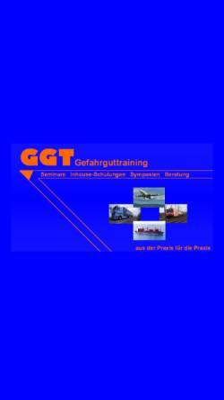 Vorschau der mobilen Webseite ggt.rheingau.org, GGT Gesellschaft für Gefahrgut-Training mbH