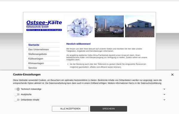 Vorschau von www.ostsee-kaelte.de, Ostsee-Kälte Kältetechnik GmbH