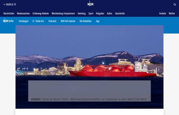 Vorschau von www.ndr.de, Gruß an Bord - NDR Info und NDR 90,3