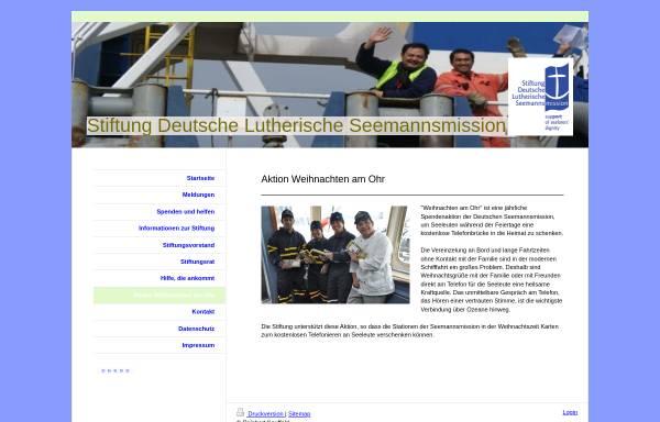 Vorschau von stiftung-seemannsmission.de, Weihnachten am Ohr - Stiftung Deutsche Lutherische Seemannsmission