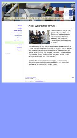 Vorschau der mobilen Webseite stiftung-seemannsmission.de, Weihnachten am Ohr - Stiftung Deutsche Lutherische Seemannsmission