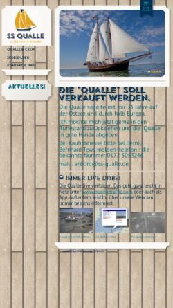 Vorschau der mobilen Webseite www.ss-qualle.de, Segelschiff