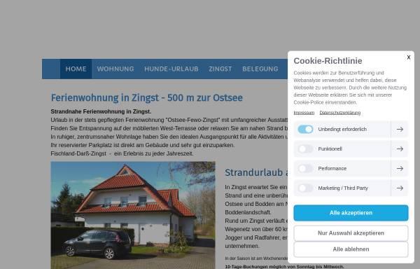 Vorschau von www.ostsee-fewo-zingst.de, Ferienwohnung Friedenstraße 45