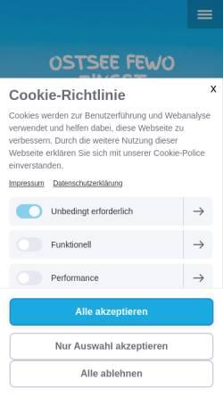 Vorschau der mobilen Webseite www.ostsee-fewo-zingst.de, Ferienwohnung Friedenstraße 45