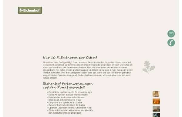 Vorschau von www.eichenhof-prerow.de, Eichenhof-Prerow, Inhaber Heiko Barthel