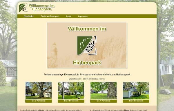Vorschau von www.eichenpark-prerow.de, Eichenpark Ostseebad Prerow