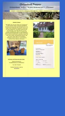 Vorschau der mobilen Webseite www.rechentin.de, Ferienwohnung Barbara; Inhaber: B. Rechentin