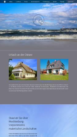 Vorschau der mobilen Webseite www.jahn-prerow.de, Ferienwohnungen Familie Jahn