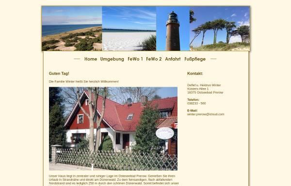 Vorschau von www.winter-prerow.de, Ferienwohnungen Familie Winter