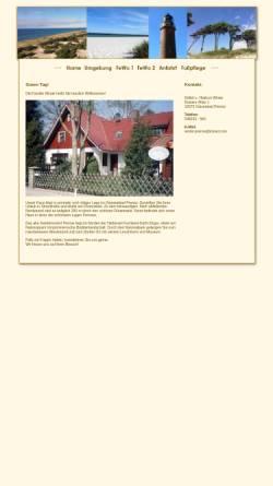 Vorschau der mobilen Webseite www.winter-prerow.de, Ferienwohnungen Familie Winter