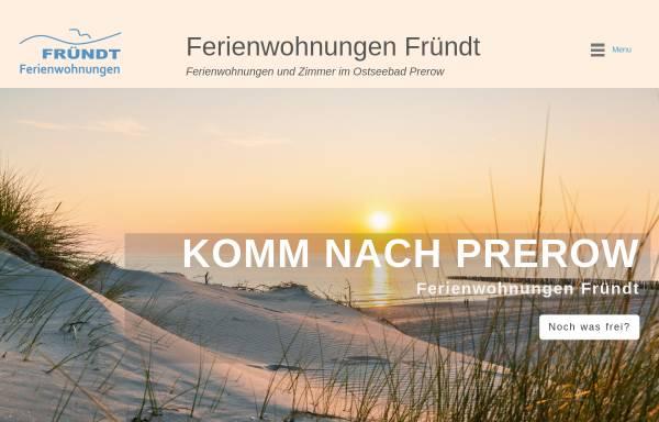 Vorschau von ostseebadprerow.de, Ferienwohnungen Fründt
