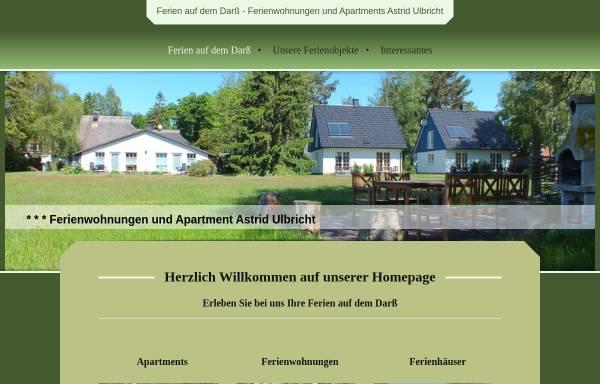 Vorschau von www.ferienulbricht.de, Ferienwohnungen und Apartments Astrid Ulbricht