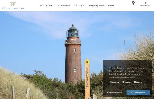 Vorschau von www.ff-prerow.de, Förster Ferienhäuser