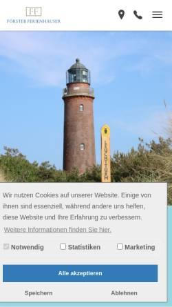 Vorschau der mobilen Webseite www.ff-prerow.de, Förster Ferienhäuser