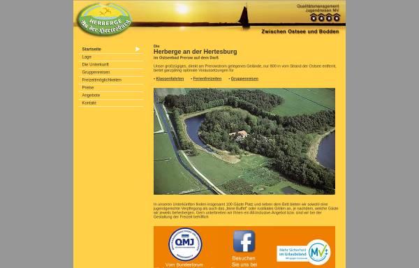 Vorschau von www.herberge-prerow.de, Herberge an der Hertesburg, Inh. Christa Lüder