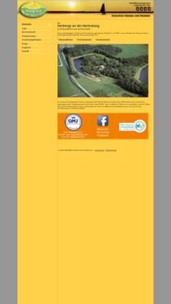 Vorschau der mobilen Webseite www.herberge-prerow.de, Herberge an der Hertesburg, Inh. Christa Lüder