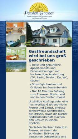 Vorschau der mobilen Webseite www.pension-grosser.de, Pension Grosser