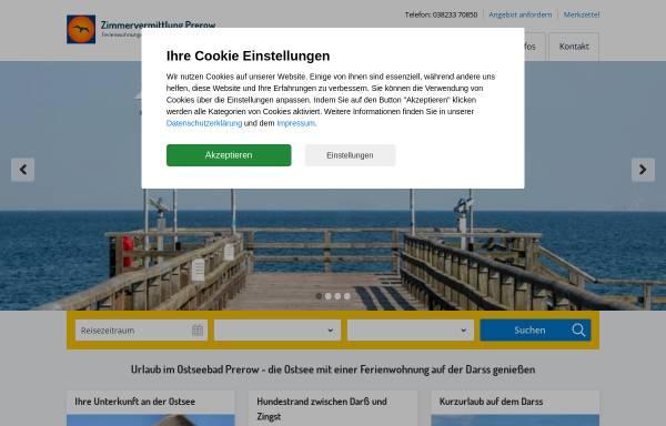 Vorschau von www.zimmervermittlung-prerow.de, Zimmervermittlung Prerow, Inhaber Ellen Wagner