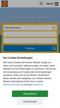 Vorschau der mobilen Webseite www.zimmervermittlung-prerow.de, Zimmervermittlung Prerow, Inhaber Ellen Wagner