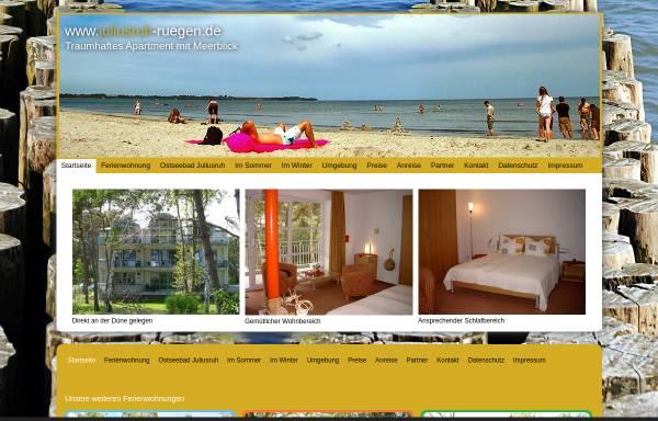 Vorschau von www.juliusruh-ruegen.de, Ferienwohnung Franken-Weber