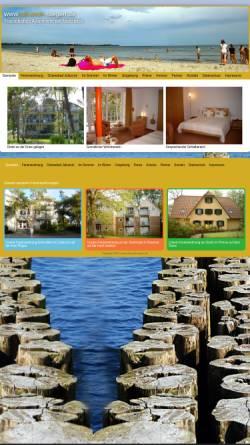 Vorschau der mobilen Webseite www.juliusruh-ruegen.de, Ferienwohnung Franken-Weber