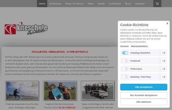 Vorschau von www.kiteschule-darss.de, Kiteschule Darß