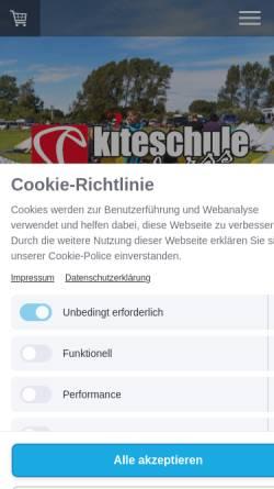 Vorschau der mobilen Webseite www.kiteschule-darss.de, Kiteschule Darß