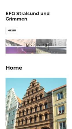 Vorschau der mobilen Webseite www.baptisten-stralsund.de, Baptistengemeinde Stralsund