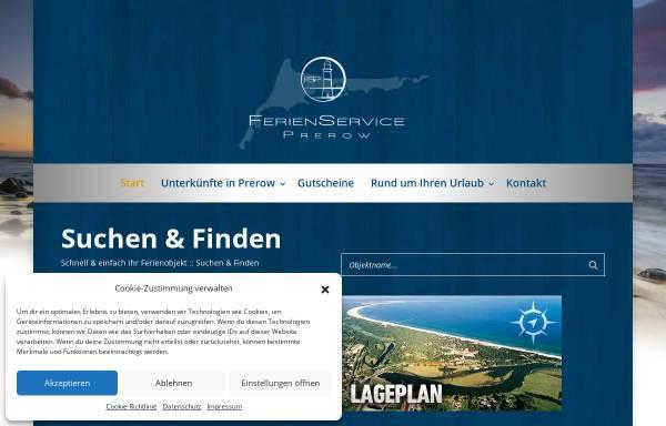 Vorschau von www.ferienservice-prerow.de, Ferienservice Prerow