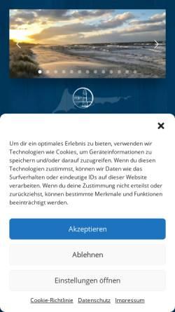 Vorschau der mobilen Webseite www.ferienservice-prerow.de, Ferienservice Prerow