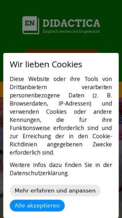 Vorschau der mobilen Webseite www.didactica-hst.de, Didactica Förderungslehrgänge