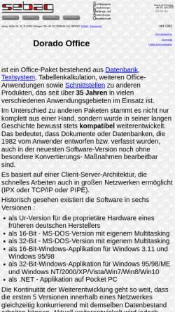 Vorschau der mobilen Webseite www.dorado.de, Sebag Dorado Office